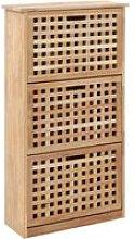 Shoe Storage Cabinet 55x20x104 cm Solid Walnut