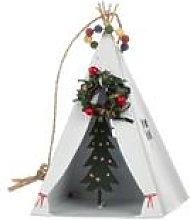 Tin robin /& mistletoe on a log decoration Shoeless joe.Christmas ornament.Bird.