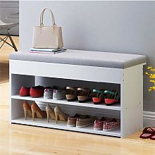 Shoes Cabinet With 2-Drawer Cotton-Flax Cushion
