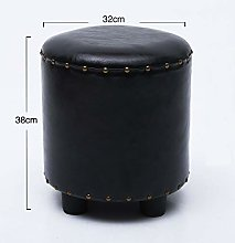 Shoes Changing Stool Home Fashion Oil Wax Leather
