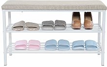Shoes Storage Rack Shoes Changing Bench, 2 Tier