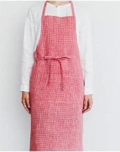 shop fog linen - 92 x 97cm Red White Check Linen
