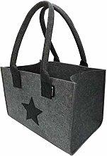 Shopper felt bag premium, large shopping bag with