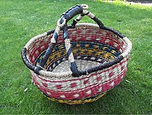 Shopping basket made of plant fibre, painting bag,