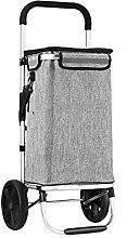 Shopping Cart Folding Hand Drawn Aluminum Alloy