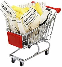 Shopping Cart Snack Basket Trolley Shape Mini