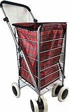 Shopping Trolley 6 Wheel Cart Grocery Folding 6