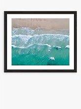 Shore - Framed Print & Mount, 56 x 66cm, Green