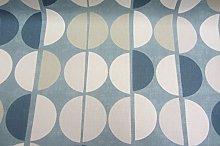 Shoreditch Retro French Blue White & Grey Cotton