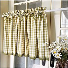 Short Curtains Plaid for baby room opaque curtain