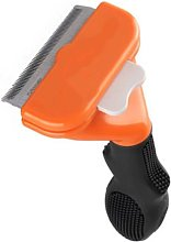 Short-haired dog hair removal tool, Orange-m
