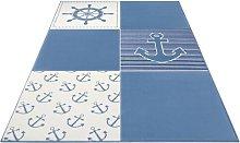 Short pile design children carpet Ocean Patchwork Hanse Home