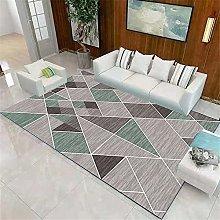 Short Pile Rug Abstract geometric short piles,