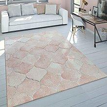 Short-Pile Rug Living Room Pale Pink Pastel