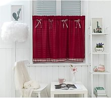 Short Window Curtains Country Style Vintage Opaque