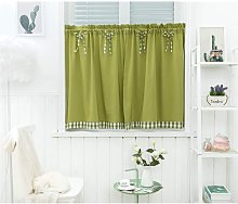 Short Window Curtains Vintage Country Style Opaque