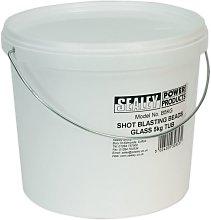 Shot Blasting Beads Glass 5kg Plastic Tub - Sealey