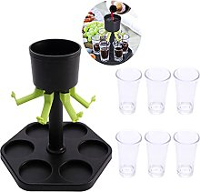 Shot Glass Dispenser Holder with 6 Cups,Cocktail