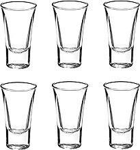 Shot Glass Set of 6, 1-Ounce Tequila Shot Glasses,