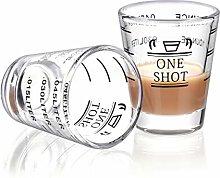 Shot Glasses Measuring Cup Round Liquid Heavy