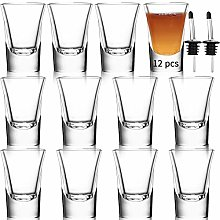 Shot Glasses Set of 12-1.2oz/35ml Clear Shot Glass