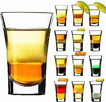 Shot Glasses Set of 12 Glass 4 cl Shot Glasses for