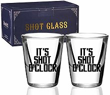 Shot Glasses Set of 2, Funny Drinking Gifts for