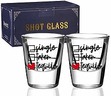 Shot Glasses Set of 2, Funny Tequila Drinking