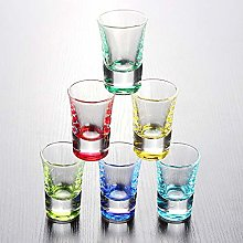 Shot Glasses Set of 6 Round 1.0 oz Colourful Shot