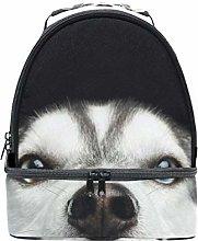 Shoulder Double Lunch Bag Cute Animal Husky Dog