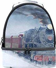 Shoulder Double Lunch Bag Steam Engine Train