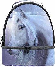 Shoulder Double Lunch Bag Unicorn Fairies Magic