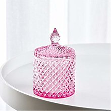 SHOUNAO Colorful Diamond Glass Jar With Lid Nordic