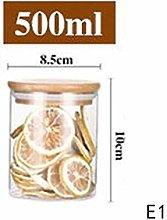 SHOUNAO Mason Candy Jar For Spices Glass