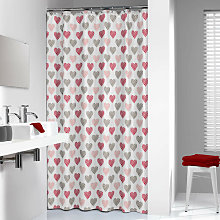 Shower Curtain Amor 180 cm Red 235241359 - Red -