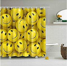 Shower Curtain Art Emoticons Cartoons Smiley Faces