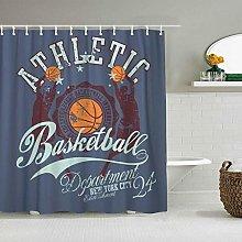 Shower Curtain Ball Orange American College