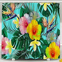Shower Curtain,Beautiful Floral Tropical Flowers