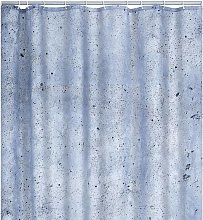 Shower Curtain Cement 180x200 cm - Grey - Ridder