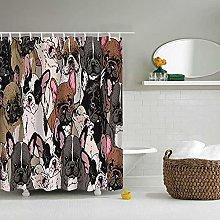 Shower Curtain Cute Animal Dog Shower Curtain 3D