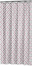 Shower Curtain Diamonds 180x200cm Polyester Pink -