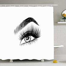 Shower Curtain For Bathroom 72x72 Eyebrow