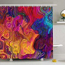 Shower Curtain For Bathroom 72x72 Watercolor Swirl