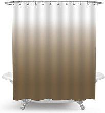 Shower Curtain for Bathroom Waterproof Gradual