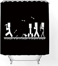 Shower Curtain Game Character Child Bathroom