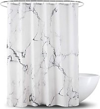 Shower Curtain,Grey and White Fabric Shower