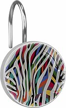 Shower Curtain Hooks - Background with Colorful