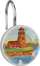 Shower Curtain Hooks Rings,lighthouse cottage