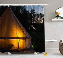 Shower Curtain, Kids Shower Curtain with Hooks
