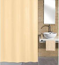 Shower Curtain Kito 180x200 cm Beige - Beige -